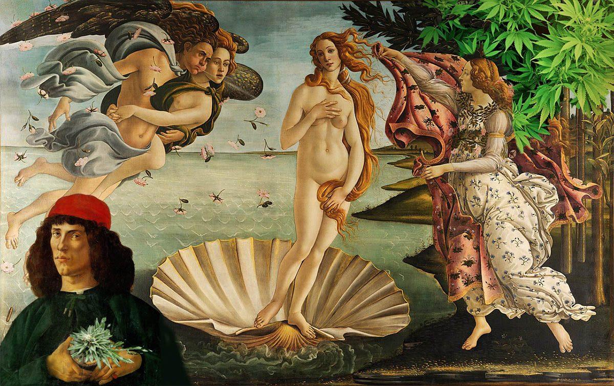 Contemporary Birth of Venus Painting