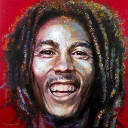 Bob Marley Rasta Painting by Tatyana Zen