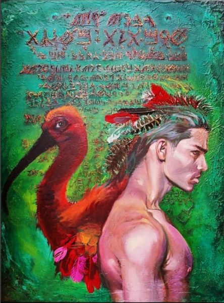 Emerald Tablets Original Painting
