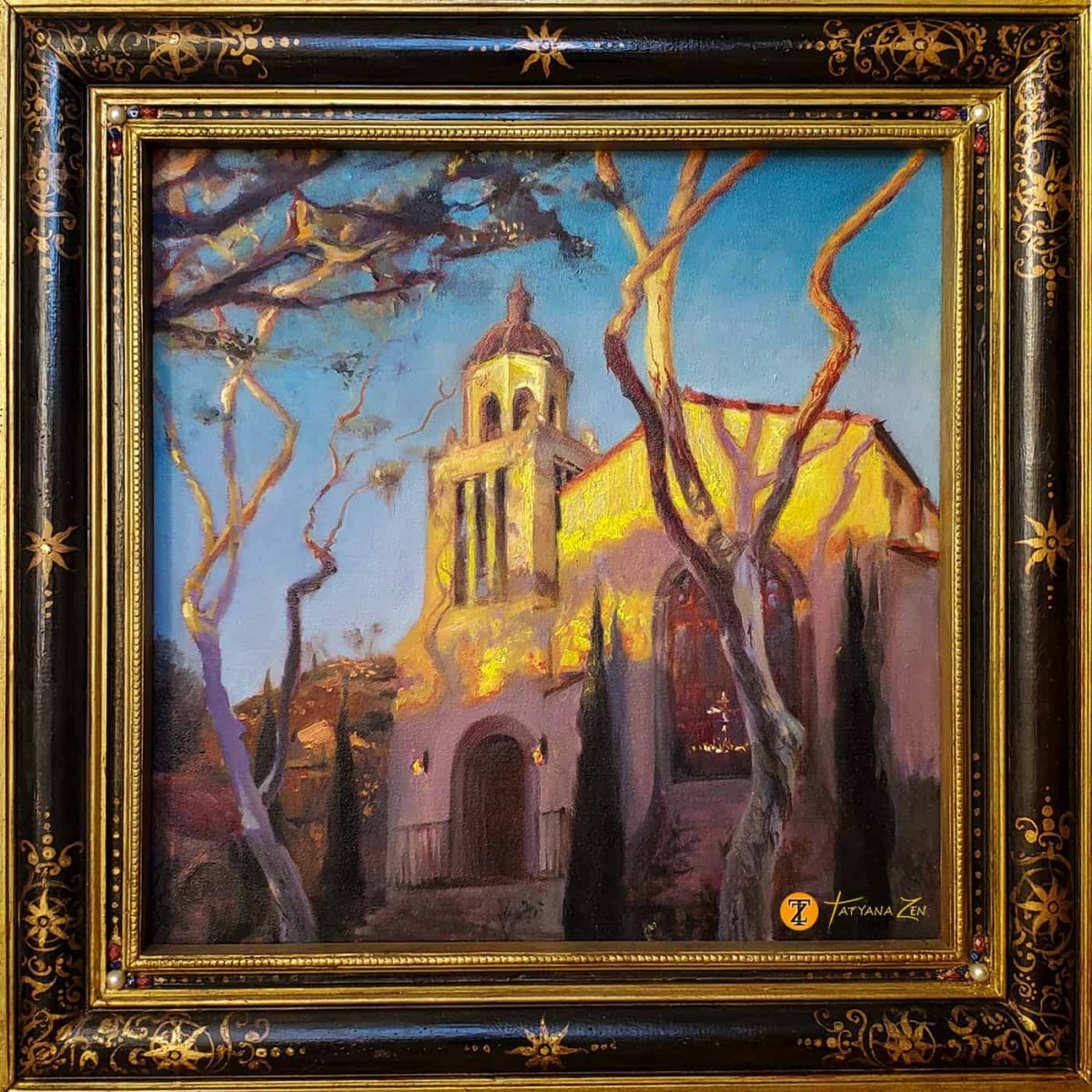 Laguna Presbyterian Church Original Painting by Tatyana Zen