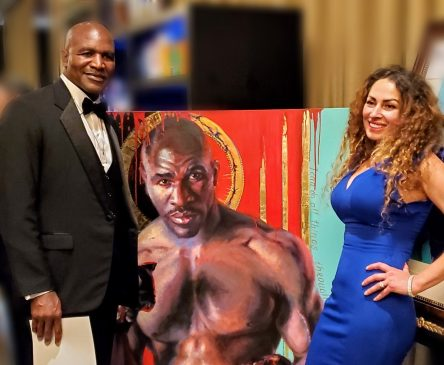 Evander Holyfield with Tatyana