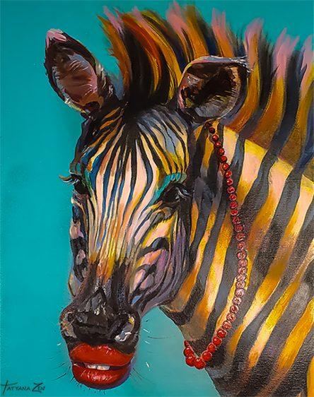 Fancy Zebra Original Painting