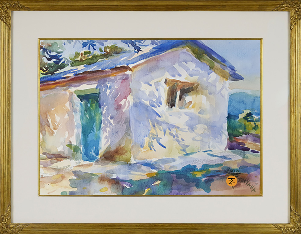 Corfu Lights and Shadows after Sargent