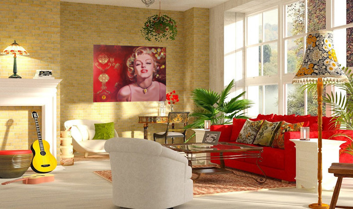 Interior Design Bohemian Marilyn Monroe