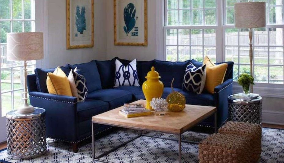 Interior Design Navy with Saffron