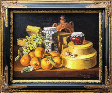 Framed Still Life with Oranges Original Painting