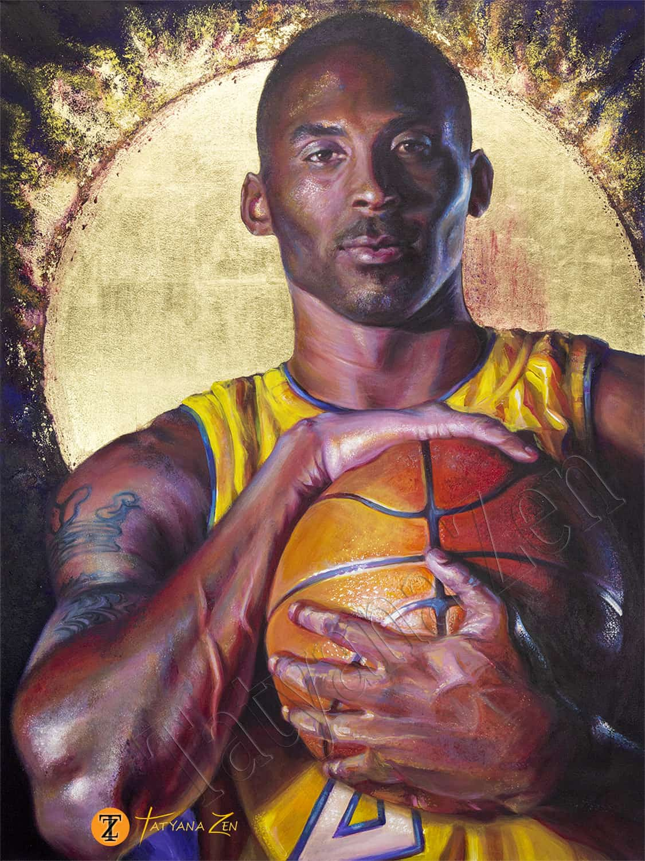 Kobe Bryant Original Painting by Tatyana Zen