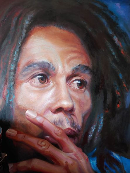 Bob Marley Original Painting by Tatyana Zen