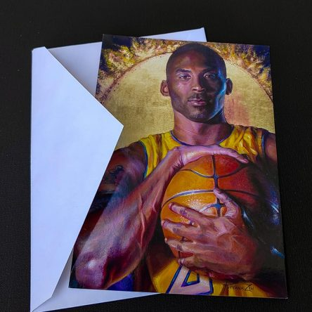 Kobe Bryant Postcards by Tatyana Zen