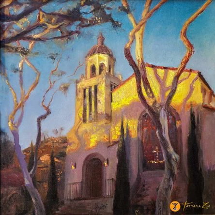 Laguna Presbiterian Church Unframed by Tatyana Zen