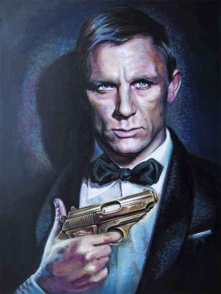James Bond Original Painting by Tatyana Zen
