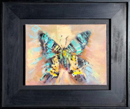 Madagascan Sunset Moth Painting